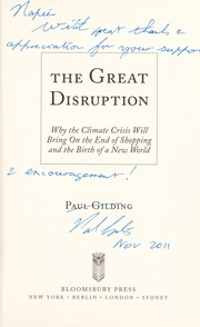 Cover of: The great disruption | Paul Gilding