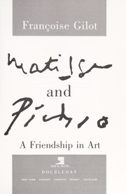 Cover of: Matisse and Picasso by Françoise Gilot