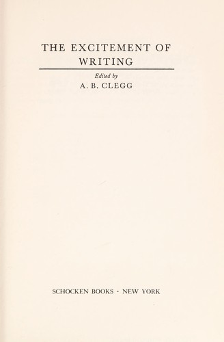 The excitement of writing by Sir Alec Clegg