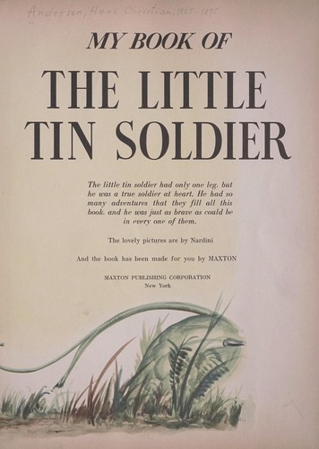 My book of the little tin soldier by Hans Christian Andersen