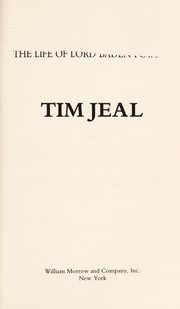 Cover of: The boy-man | Tim Jeal