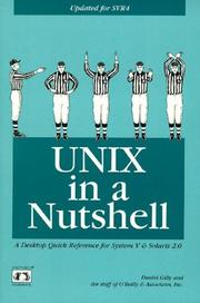 Cover of: UNIX in a nutshell by Daniel Gilly