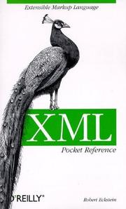 Cover of: XML pocket reference | Robert Eckstein
