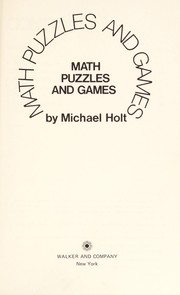 Cover of: Math puzzles and games | Michael Holt