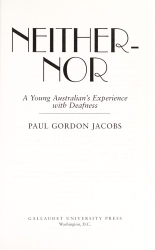 Neither-nor by Paul Jacobs