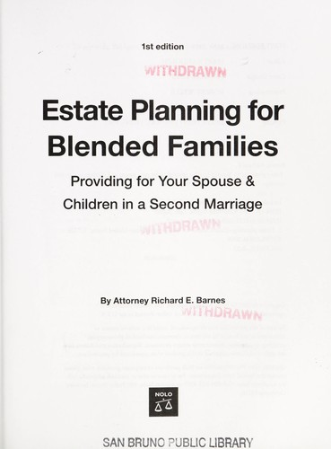 Estate planning for blended families by Richard E. Barnes