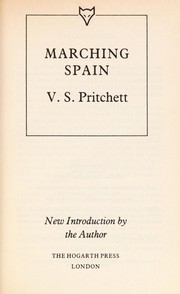 Cover of: Marching Spain | V. S. Pritchett