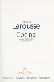 Cover of: El Pequeño Larousse De La Cocina/ the Small Larousse of Cooking | Michael Mann