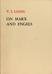 Cover of: On Marx and Engels by Vladimir Ilich Lenin