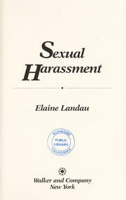 Cover of: Sexual harassment | Elaine Landau