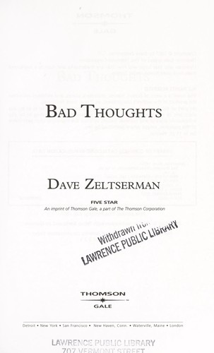 Bad thoughts by Dave Zeltserman