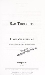 Cover of: Bad thoughts | Dave Zeltserman