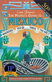 Cover of: The People's Guide to Mexico (Peoples Guide to Mexico) by Carl Franz