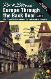 Cover of: Rick Steves' Europe Through the Back Door 2003 by Rick Steves