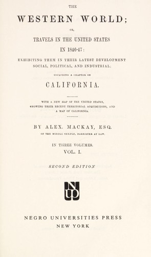 The western world by Alexander Mackay