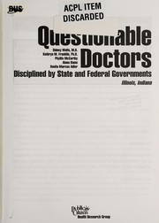 Cover of: Questionable doctors | Sidney M. Wolfe