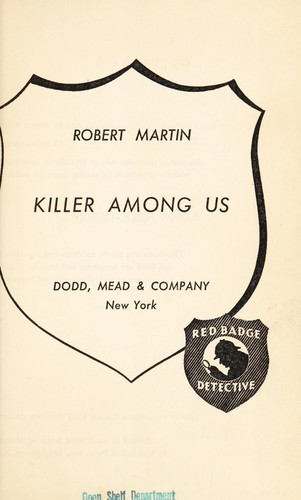 Killer among us by Martin, Robert