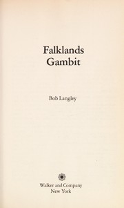 Cover of: Falklands gambit | Bob Langley