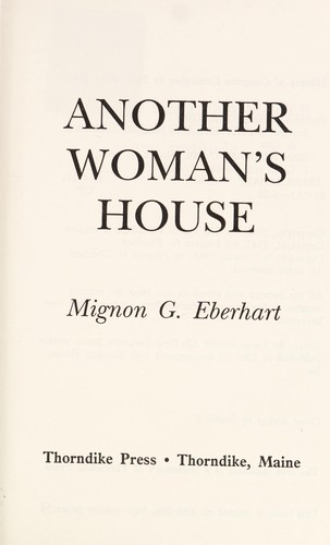 Another woman's house by Mignon Good Eberhart
