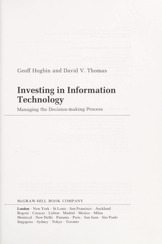 Investing in information technology by Geoff Hogbin