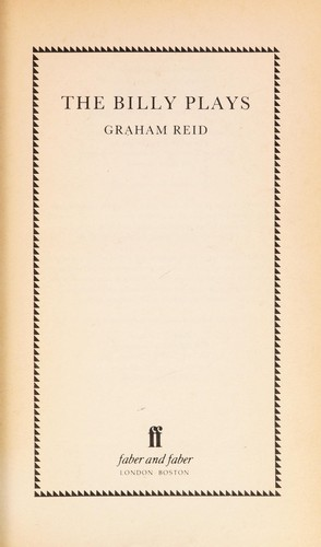 The Billy plays by J. Graham Reid