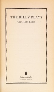 Cover of: The Billy plays by J. Graham Reid