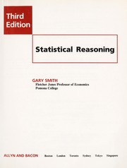 Cover of: Statistical reasoning | Smith, Gary