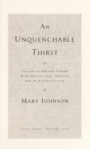 Cover of: An unquenchable thirst by Mary Johnson