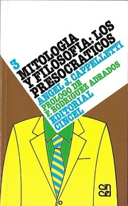 Cover of: Mitología y Filosofía | Angel J. Cappelletti