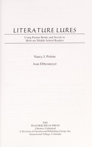 Literature lures by Nancy Polette