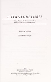 Cover of: Literature lures | Nancy Polette