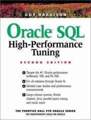Cover of: Oracle SQL high-performance tuning | Guy Harrison