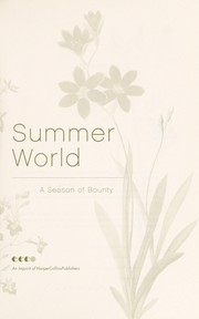Cover of: Summer world by Bernd Heinrich