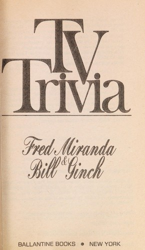 TV Trivia by Fred Miranda