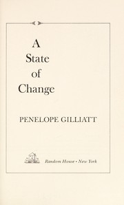 Cover of: A state of change | Penelope Gilliatt