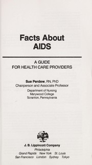 Cover of: Facts about AIDS | Sue Perdew