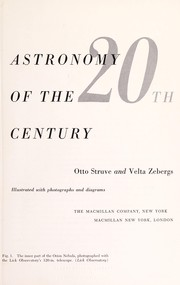 Cover of: Astronomy of the 20th century | Struve, Otto