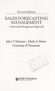 Cover of: Sales forecasting management | John T Mentzer