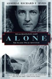 Cover of: Alone by Richard Evelyn Byrd