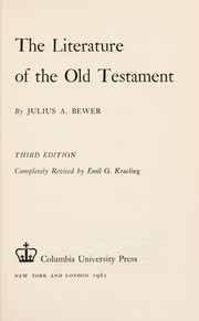 Cover of: The literature of the Old Testament | Julius August Bewer