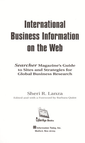 International business information on the web by Sheri R. Lanza