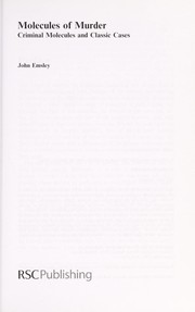 Cover of: Molecules of murder | Emsley, John.