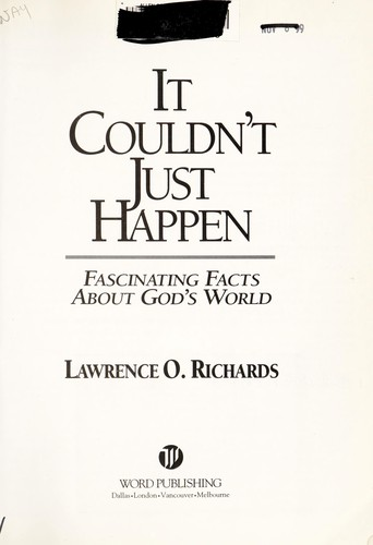 It couldn't just happen by Richards, Larry