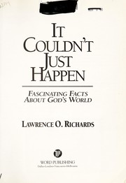 Cover of: It couldn't just happen | Richards, Larry