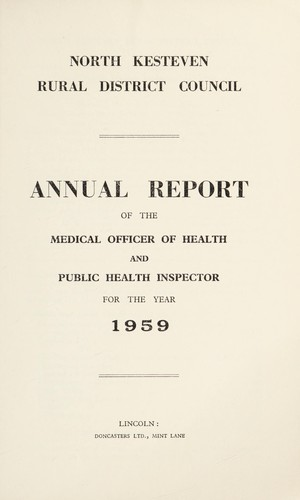 [Report 1959] by North Kesteven (England). Rural District Council