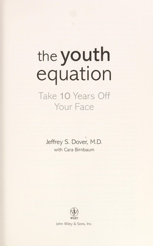 The youth equation by Jeffrey S. Dover