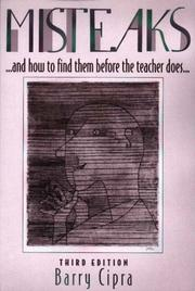 Cover of: Misteaks [sic] and how to find them before the teacher does by Barry Cipra