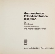 Cover of: German armour, Poland and France, 1939-1940 | Eric Grove