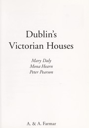 Cover of: Dublin's Victorian houses | Mary E. Daly