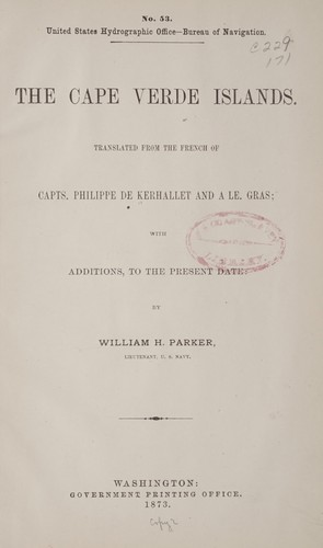 The Cape Verde Islands by Charles Philippe de Kerhallet
